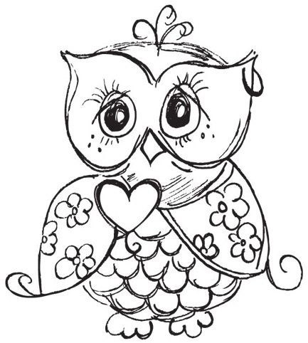 Image Result For Baby Owl Coloring